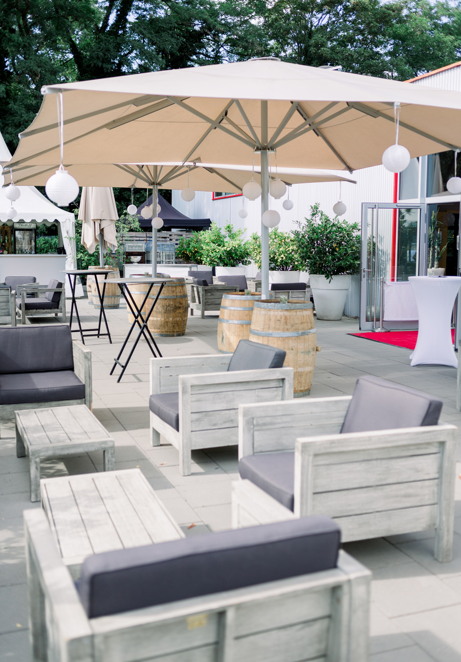 Außenterrasse Loungebereich